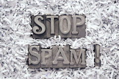 Fermi lo Spam escl. Immagini Stock