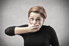 Fermi sulla bocca Fotografia Stock Libera da Diritti
