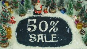 Fermi un'animazione di moto della vendita di 50% Fotografia Stock Libera da Diritti