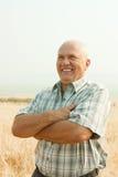 Fermier aîné heureux Images libres de droits