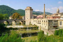 Fermignano. In Umbria, roman buildings Royalty Free Stock Photography