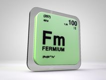 Fermium - Fm - chemical element periodic table. 3d illustration Stock Image