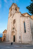 Fermo Cathedral west front. Roman Catholic cathedral in Fermo, region of Marche, Italy Stock Image