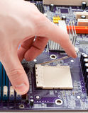 Fermo del CPU di apertura Fotografia Stock Libera da Diritti