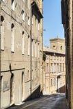Fermo - edificios históricos Foto de archivo libre de regalías