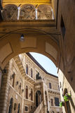 Fermo - Historic buildings. Fermo (Marches, Italy) - Historic buildings, palace with staircase Royalty Free Stock Images