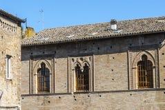 Fermo - historisk byggnad Arkivfoton
