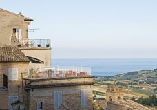 Fermo, Marche region, Italy. The ancient town of Fermo, Marche region, Italy Royalty Free Stock Photography