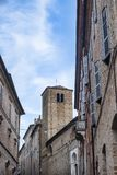 Fermo Marches, Italy. Historic buildings along an old typical street Royalty Free Stock Photography