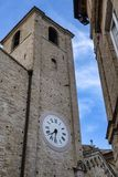Fermo Marches, Italy. Historic buildings along an old typical street Royalty Free Stock Photo