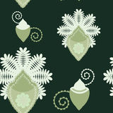 Fern background, vector illustration. Abstract ferns on seamless pattern, vector illustration Royalty Free Stock Photo