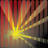Fern Forest Searchlights. Ferns and beams of light are featured in an abstract background  illustration Stock Photography