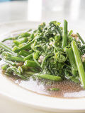 Fern Fried Vegetables in der Austernsoße Stockbilder