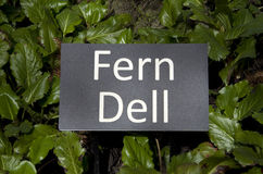 Fern garden sign Royalty Free Stock Photography