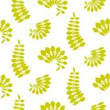 Fern green leaves seamless vector pattern. Foliage repeat background Royalty Free Stock Photo