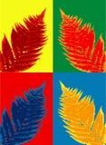 Fern leaf. Vector fern leaf in four color variations Stock Image