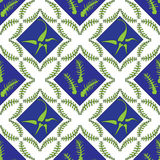Fern Leaves Seamless Pattern. Vector Illustration Royalty Free Stock Photography