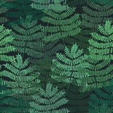 Fern motif nand drawn pattern. Green forest. Seamless pattern. Vector background. Stock Images