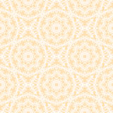 Fern ornament seamless vector pattern. (pastel yellow Royalty Free Stock Image