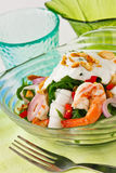 Fern salad. Thai fusion food, Fern and seafood salad with sour and spicy coconut milk dressing Stock Photography