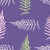 Fern seamless pattern. Ultra violet. Vector illustration Stock Images