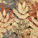 Fern tile. Editable  seamless tile of fern leaves Stock Photography
