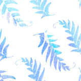 Fern watercolor. Seamless branches and leaves Royalty Free Stock Images