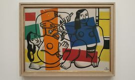 Fernand Leger  - Two Women Holding Flowers. Photo was taken on April 2016 in Tate Modern London Stock Images