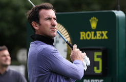 Fernandez Castano at the Seve Trophy 2013 Royalty Free Stock Photos