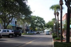 Fernandina Beach. Is a city in Nassau County, Florida, United States stock image