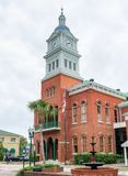 FERNANDINA BEACH, FL - FEBRUARY 15, 2016: City buildings on a overcast day. This is a famous tourist attraction stock photography