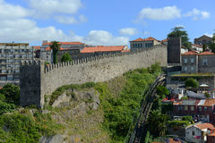 Fernandinamuur, Porto, Portugal stock foto's