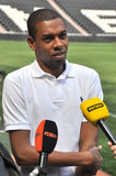 Fernandinho answers questions Royalty Free Stock Photos