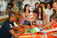 Fernandinho give autograph Royalty Free Stock Images