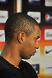 Fernandinho listen to the reporters questions Royalty Free Stock Photography