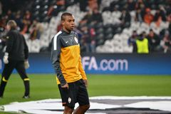 Fernandinho before the match of the Champions League Royalty Free Stock Photo