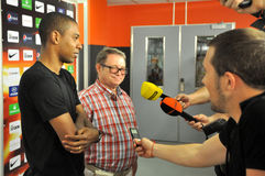 Fernandinho meets with reporters Stock Image