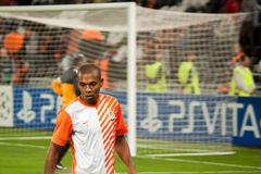 Fernandinho (Shakhtar) warming up Stock Photos