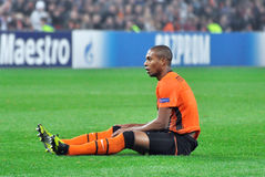 Fernandinho sitting on the ground Stock Photo