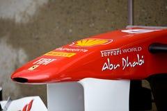 Fernando Alonso�s car nose Stock Photos