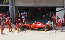 Fernando Alonso (équipe Ferrari) Photographie stock libre de droits