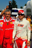 Fernando Alonso. Walking whit his manager to the pit lane Royalty Free Stock Photography