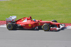 Fernando Alonso in 2012 F1 Canadian Grand Prix Royalty Free Stock Photos
