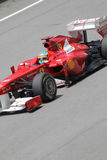 Fernando Alonso in action close up Royalty Free Stock Photography