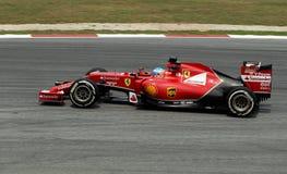 Fernando Alonso av Ferrari Arkivbilder