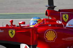 Fernando Alonso av Ferrari F1 Royaltyfri Foto