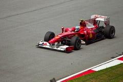 Fernando Alonso bij Maleise Formule 1 ras Stock Afbeelding