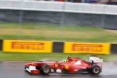 Fernando Alonso che corre al grande prix di Montreal Immagini Stock
