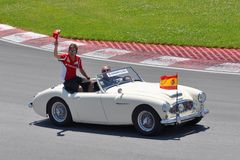 Fernando Alonso dans 2012 F1 Prix grand canadien Image libre de droits