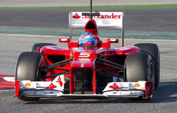 Fernando Alonso de Ferrari F1 Photographie stock libre de droits